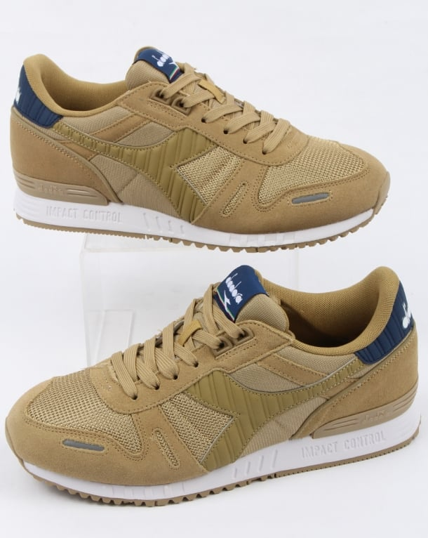 Diadora Titan II Trainers Khaki/Estate Blue