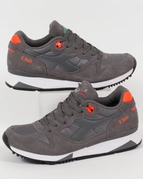 Diadora V7000 Nyl Ii Trainers Grey/orange
