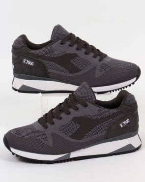 Diadora V7000 Weave Trainers Steel Grey