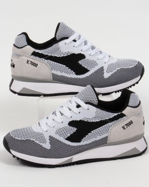 Diadora V7000 Weave Trainers White/Black