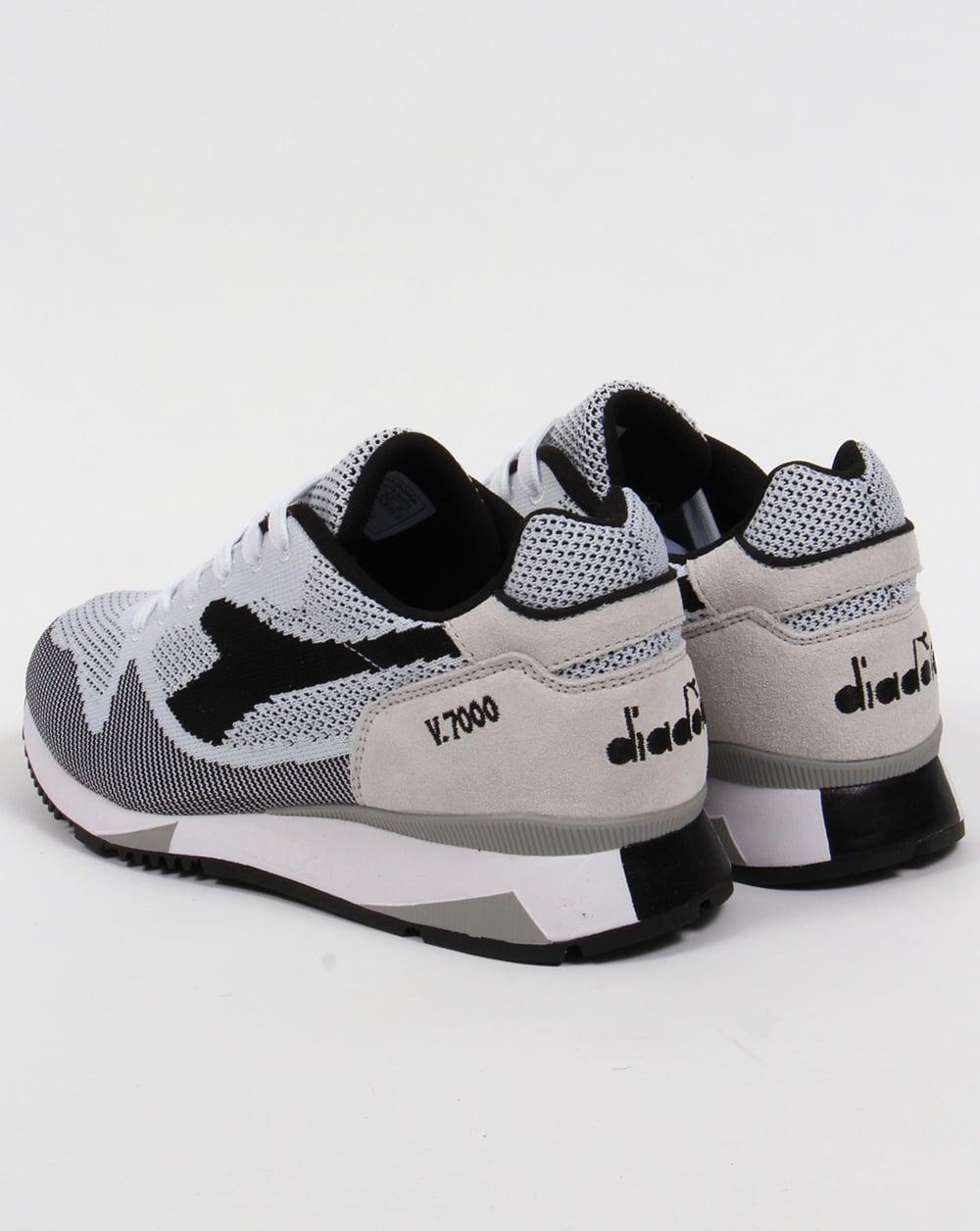 Diadora V7000 Weave Trainers White Black ddd77e89bcbb
