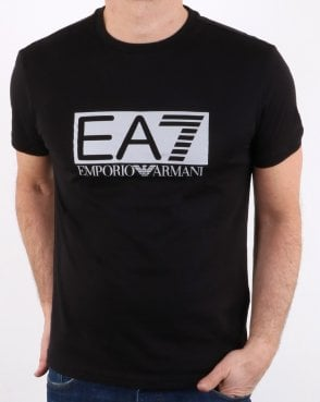 Ea7 Train Visibility M Tee Black