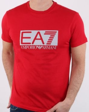 Ea7 Train Visibility M Tee Red