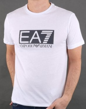 Ea7 Train Visibility M Tee White