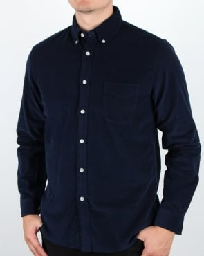 Edwin Babycord Shirt Navy
