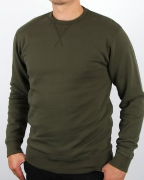 Edwin Jeans Edwin Classic Crew Sweatshirt Olive