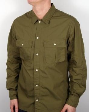 Edwin Jeans Edwin Corporal Shirt Military Green