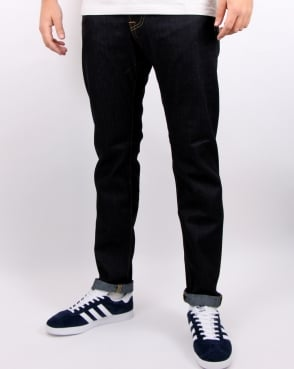 Edwin Ed-80 Slim Tapered Jeans Deep Blue Unwashed