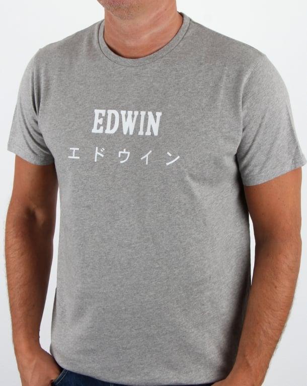 Edwin Japan T Shirt Grey Marl