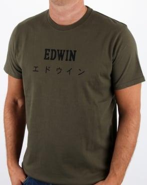 Edwin Jeans Edwin Japan T Shirt Olive