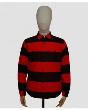 Edwin Labour Shirt Red/black
