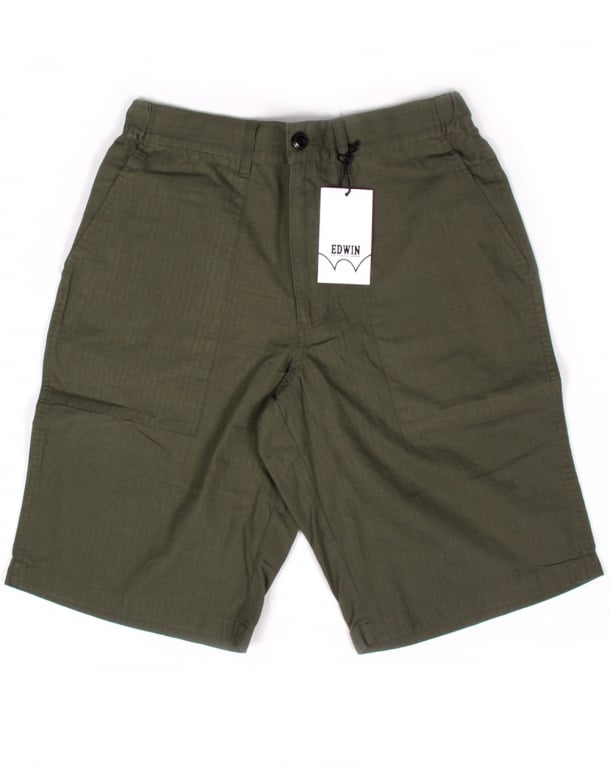 Edwin Labour Shorts Military Green