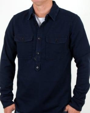 Edwin Jeans Edwin Loggerhead Popover Shirt Indigo