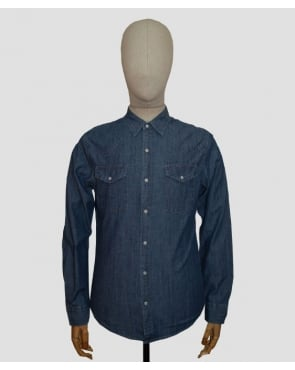 Edwin Memphis Shirt Denim Blue