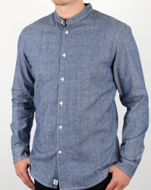 Edwin Sailman Chambray Shirt Blue