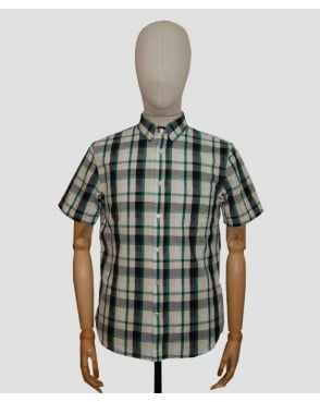Edwin Standard Check Shirt Green/navy