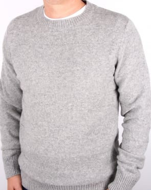 Edwin Standard Stripes Wool Sweater Light Grey Marl
