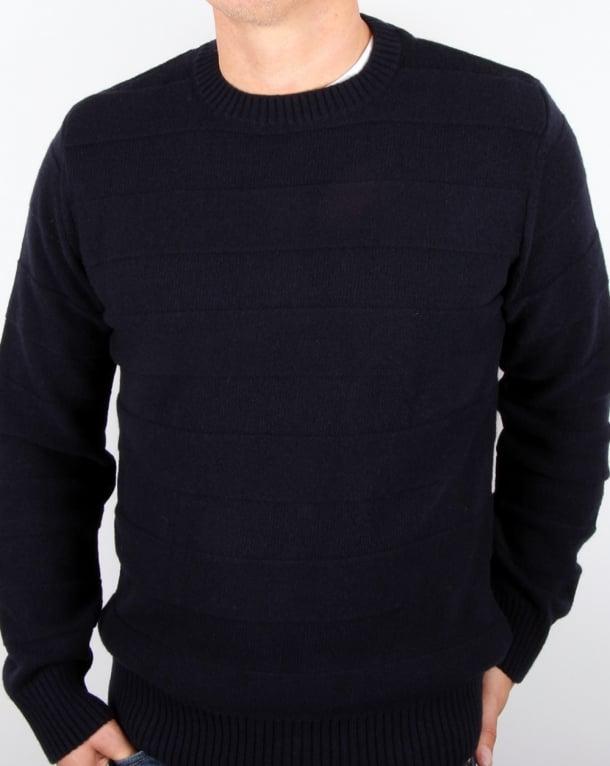 Edwin Standard Stripes Wool Sweater Navy