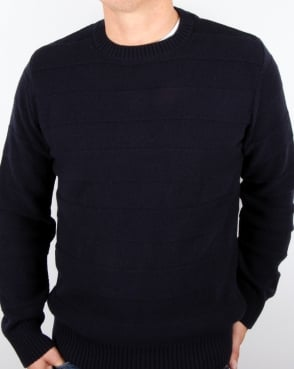 Edwin Standard Stripes Wool Sweater Navy