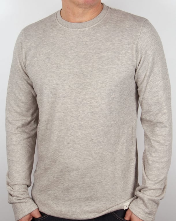 Edwin Terry Ls T Shirt Grey Marl