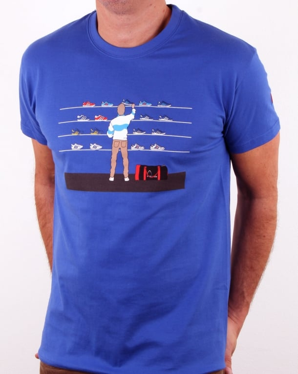 Eighties Tales Of Train Journeys T Shirt Royal Blue