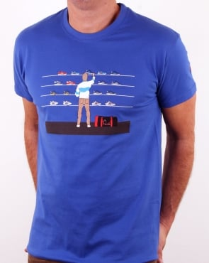80s Casuals Eighties Tales Of Train Journeys T Shirt Royal Blue