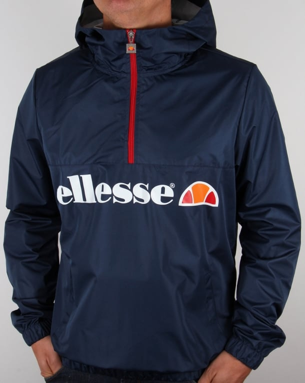 Ellesse 1/2 Zip Hooded Jacket Navy