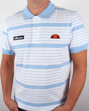 Ellesse 80s Becker Polo Shirt White/sky