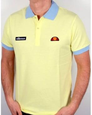 Ellesse 80s Collar Polo Shirt Lemon/Sky