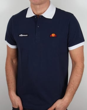 Ellesse 80s Collar Polo Shirt Navy