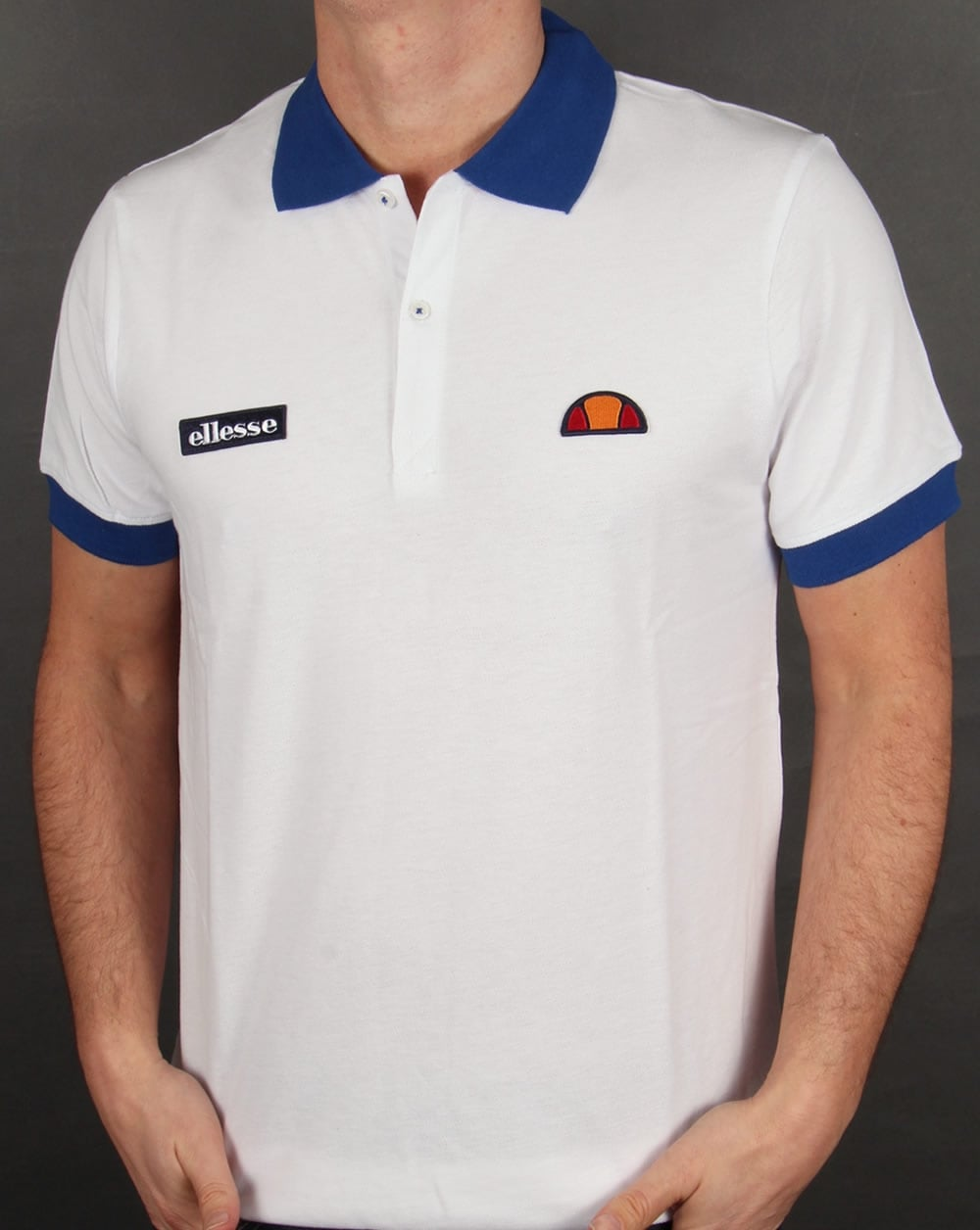 d7365d5fee Ellesse 80s Collar Polo Shirt White