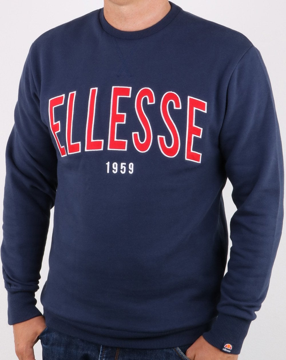 2dadf8f36 Ellesse 90's Outline Sweat Navy | 80s casual classics