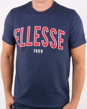 Ellesse 90's Outline T Shirt Navy