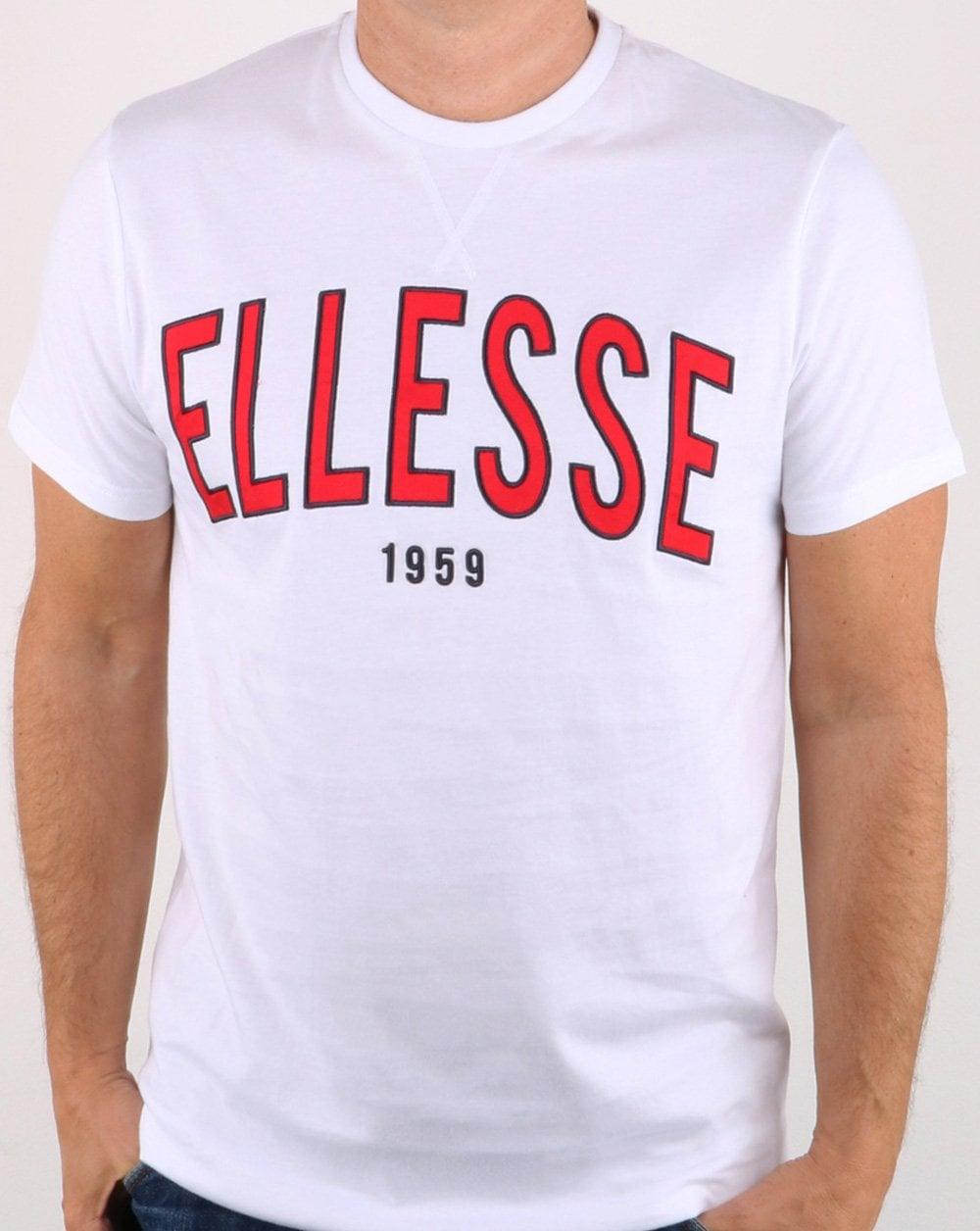 b03e87f4 Ellesse 90's Outline T Shirt White   80s casual classics