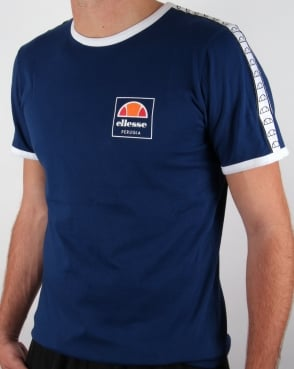 Ellesse Agosti Ringer T-shirt Estate Blue