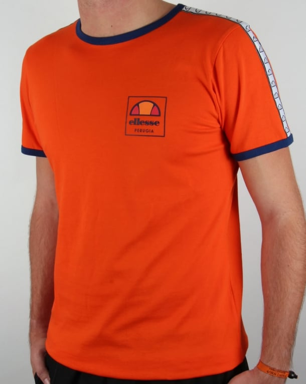 Ellesse Agosti Ringer T-shirt Red Orange