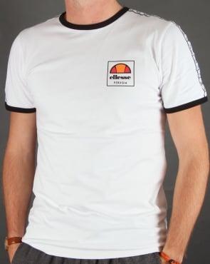 Ellesse Agosti Ringer T-shirt White