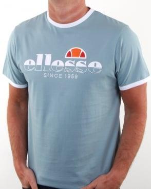 Ellesse Algila T Shirt Blue Stone