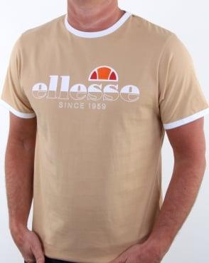 Ellesse Algila T Shirt Warm Sand