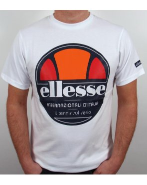 Ellesse Arrezo Old Skool T-shirt White
