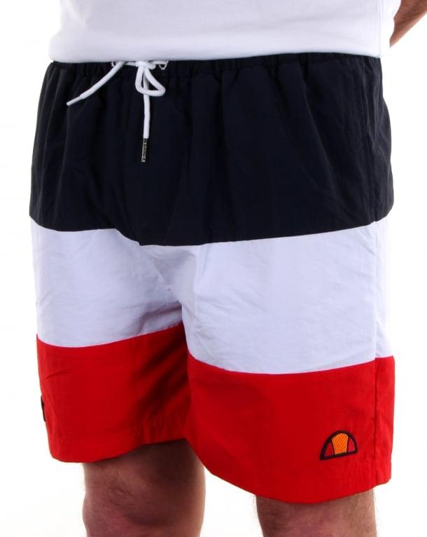 Ellesse Asolo Swim Shorts Navy/White/Red