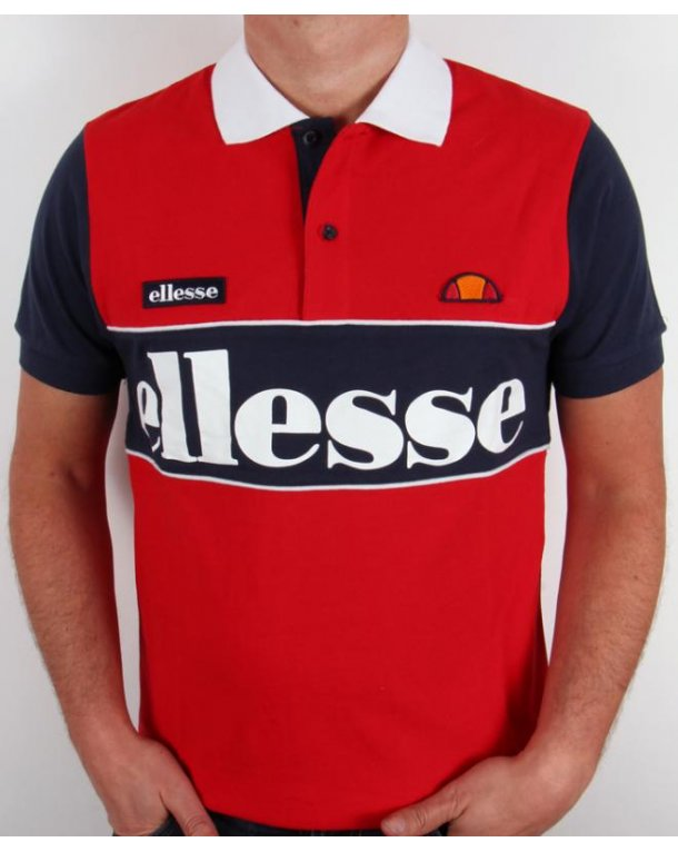 Ellesse Bartolami Polo Shirt Red/navy