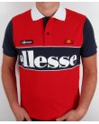 Ellesse Bartolami Polo Shirt Red/navy