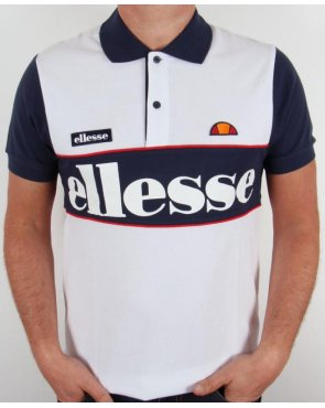 Ellesse Bartolami Polo Shirt White/navy