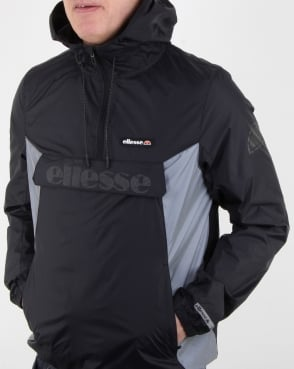 Ellesse Berto Half Zip Jacket Black