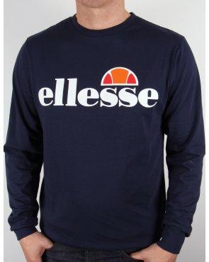 Ellesse Bianchi L/s Logo T-shirt Navy