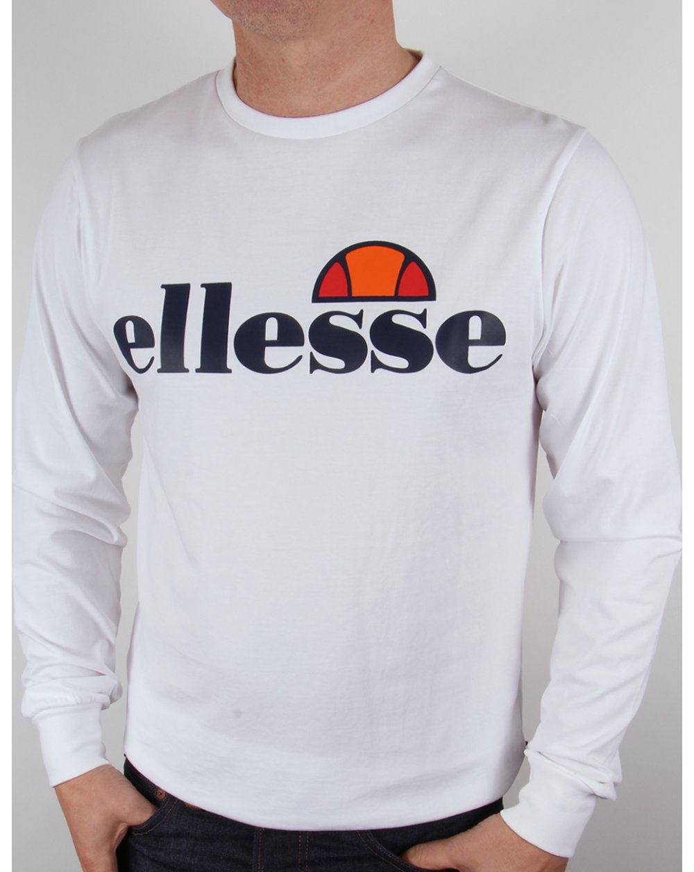 0b0c193dc4 Ellesse Bianchi L/s Logo T-shirt White