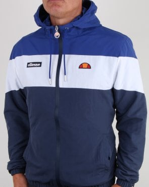 Ellesse Block Hooded Track Jacket Blue/White/Navy
