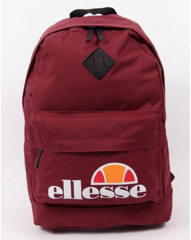 Ellesse Brock Backpack Burgundy Bags From 80s Casual