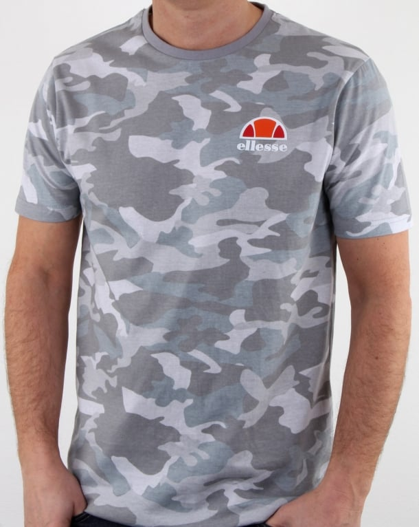 Ellesse Canaletto T Shirt Grey Camo